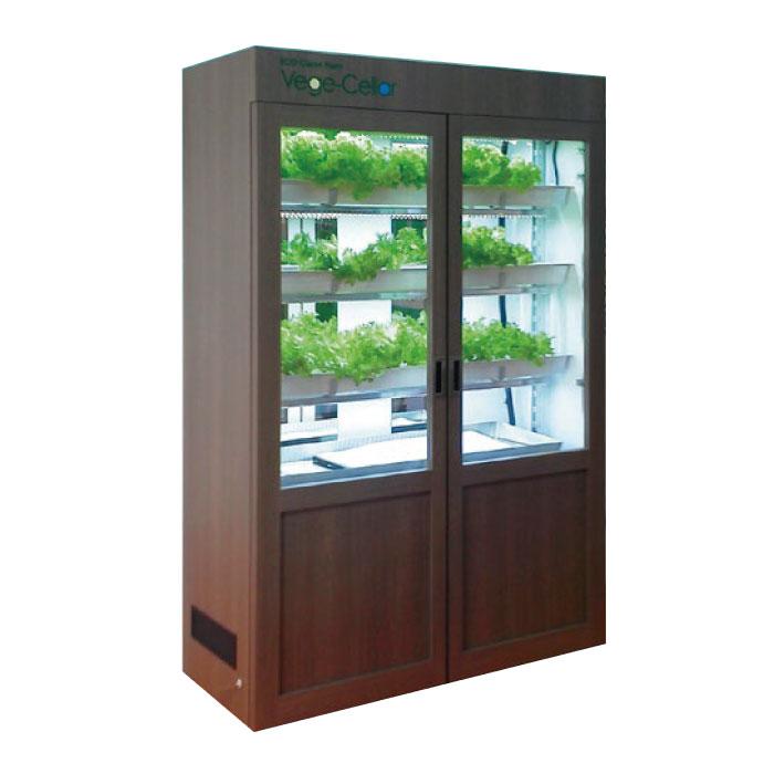 Vege-Cellar小型水耕栽培ユニット・ブラウン